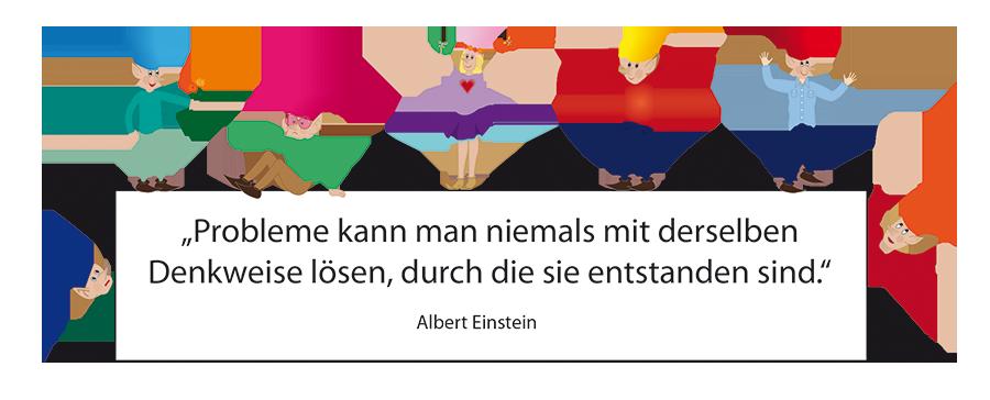 Zwerge: Einstein-Zitat